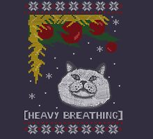 Christmas Shirt Ugly Cat Sweater T Meowy Funny Xmas Mens Gift Tee Holiday Kitten Long Sleeve Butt Lover Party Cute Unisex T-Shirt