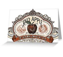 Red Apple Tobacco Greeting Card
