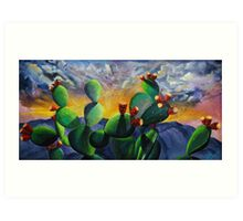 New Mexico Cactus Fruit Art Print