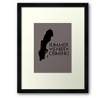 Summer is NOT coming - sweden(black text) Framed Print