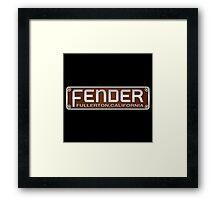 1953 Fender fulletron california amp Framed Print