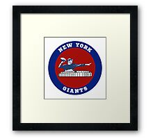 NEW YORK GIANTS IN CIRCLE Framed Print