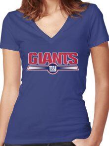NEW YORK GIANTS LOGO Women's Fitted V-Neck T-Shirt