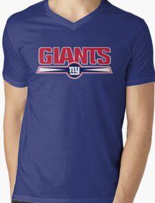 NEW YORK GIANTS LOGO Mens V-Neck T-Shirt