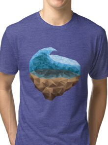 Low Poly Wave Tri-blend T-Shirt