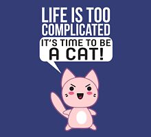 Life Complicated Shirt T Gets Cats Meow Pets Animal Long Sleeve Novelty Simple Tee Unisex T-Shirt