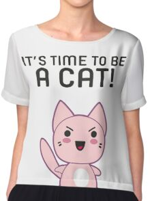 Life Complicated Shirt T Gets Cats Meow Pets Animal Long Sleeve Novelty Simple Tee Chiffon Top