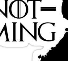 Summer is NOT coming - finland(black text) Sticker