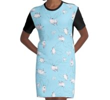 When Sheep Fly Sky 3 Graphic T-Shirt Dress