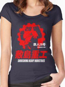 New Gigantor Tetsujin-28 go Shikishima Heavy Industries Japan Retro Mecha Anime Women's Fitted Scoop T-Shirt
