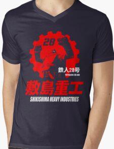 New Gigantor Tetsujin-28 go Shikishima Heavy Industries Japan Retro Mecha Anime Mens V-Neck T-Shirt