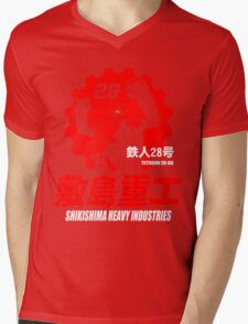 New Gigantor Tetsujin-28 go Shikishima Heavy Industries Japan Retro Mecha Anime Mens V-Neck T-Shirt