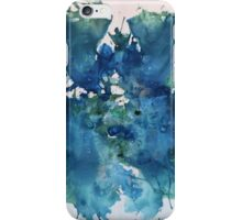 BLUE MOTH WATERCOLOR iPhone Case/Skin