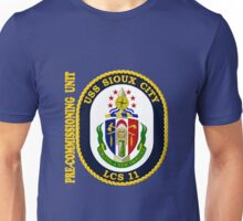 LCS-11  Pre-Commissioning Unit Crest for Dark Colors Unisex T-Shirt