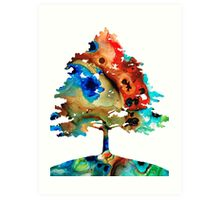 All Seasons Tree 3 - Colorful Landscape Print Art Print