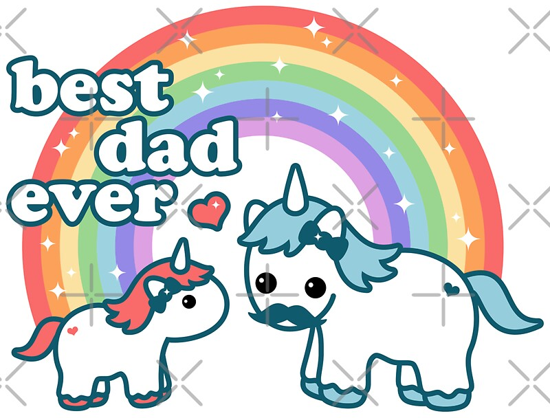 Quot Best Unicorn Dad Quot Stickers By Sugarhai Redbubble