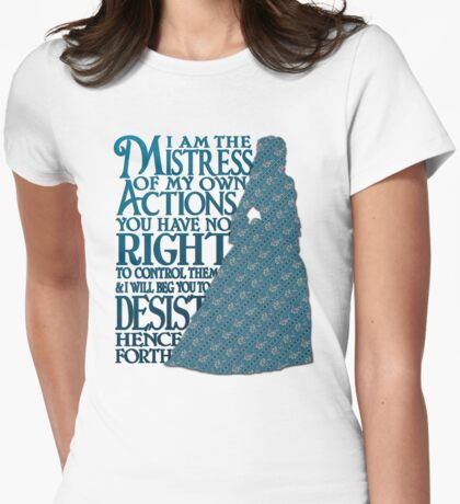 Mistress of My Own Actions Womens Fitted T-Shirt