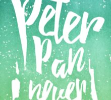 Peter Pan (watercolor);  Sticker