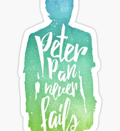 Peter Pan (watercolor);  Sticker