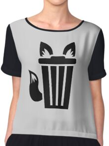 Furry Trash Icon Chiffon Top