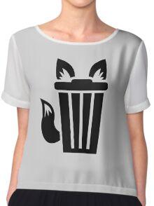 Furry Trash Icon Chiffon Top