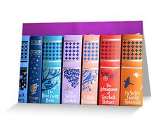 Leather Bound Classics Greeting Card