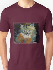 Cat Face Drawing T Shirt Men Meow Art Animal Casual Tank Top Kitty Lover Tee T-Shirt