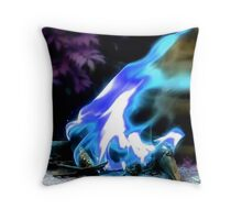 """Nevermore""  Skull in the flames of a burning Raven  Throw Pillow"