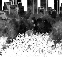Los Angeles skyline in black watercolor Sticker