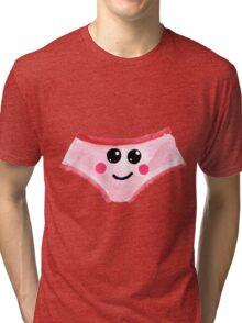 Cute Gouache Panties Tri-blend T-Shirt