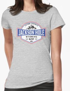 JACKSON HOLE WYOMING Mountain Skiing Ski Snowboard Snowboarding Womens Fitted T-Shirt