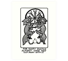Sigil For Swift Justice Art Print