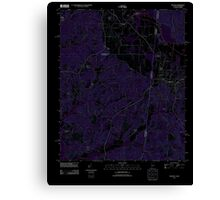 USGS TOPO Map Alabama AL Red Bay 20110922 TM Inverted Canvas Print
