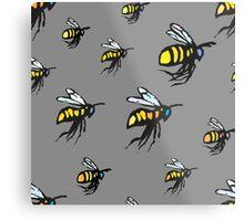 Bumble Bees Metal Print
