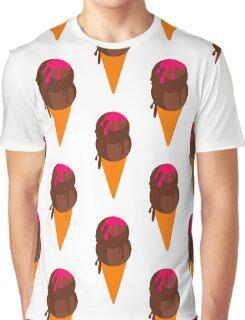 Chocolate Ice Cream Wafer Cone  Graphic T-Shirt