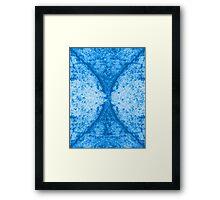 Step Crack Meeting Design (Snorkel Blue Color) Framed Print