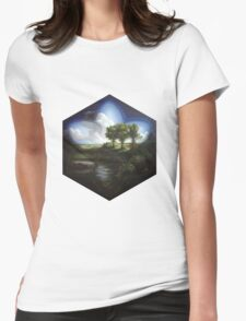 Magic Nature Landscape Womens Fitted T-Shirt