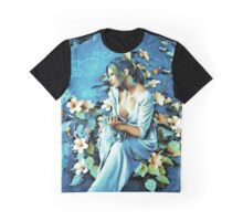 GIRL AND FLOWERS 7D Graphic T-Shirt