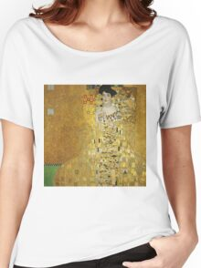 Gustav Klimt - Adele .  Golden Gustav Klimt  Women's Relaxed Fit T-Shirt