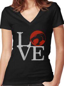 LOVE HOOOOO! Women's Fitted V-Neck T-Shirt