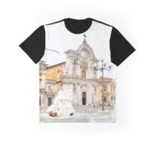 L'Aquila: church and sculpture Graphic T-Shirt