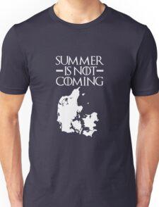 Summer is NOT coming - denmark(white text) Unisex T-Shirt
