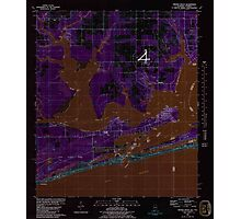 USGS TOPO Map Alabama AL Orange Beach 304756 1980 24000 Inverted Photographic Print