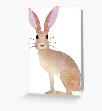 H is for Hare  Greeting Card