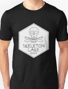 Skeleton Lake (white print) Unisex T-Shirt