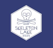 Skeleton Lake (white print) Zipped Hoodie