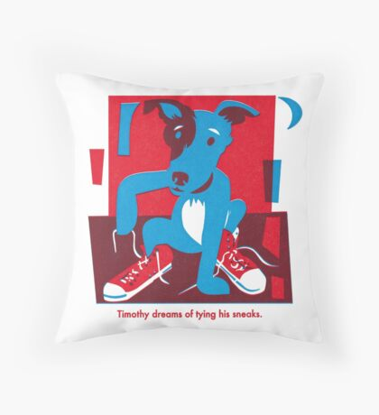 Timothy The Pup Throw Pillow