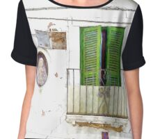 L'Aquila: terrace and newsstand votive Chiffon Top