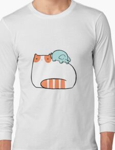 Big Cat and Little Elephant Long Sleeve T-Shirt
