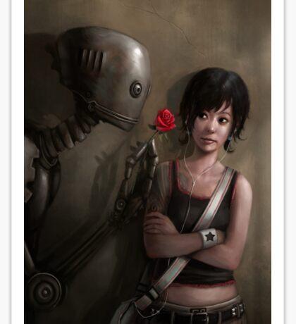 Robot In Love Sticker